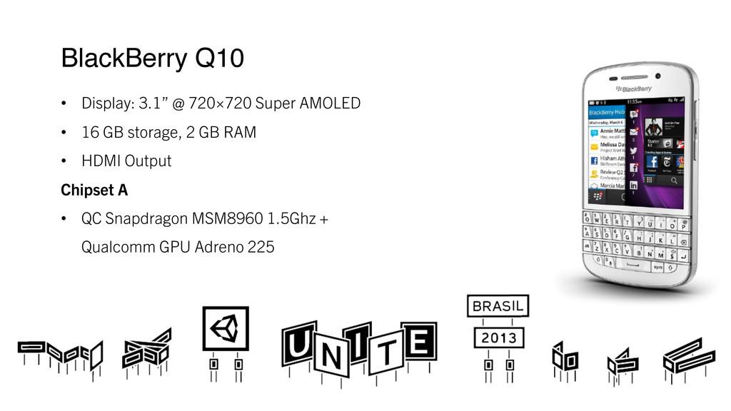 "BlackBerry Q10 ! • Display: 3.1"" @ 720×720 Su..."