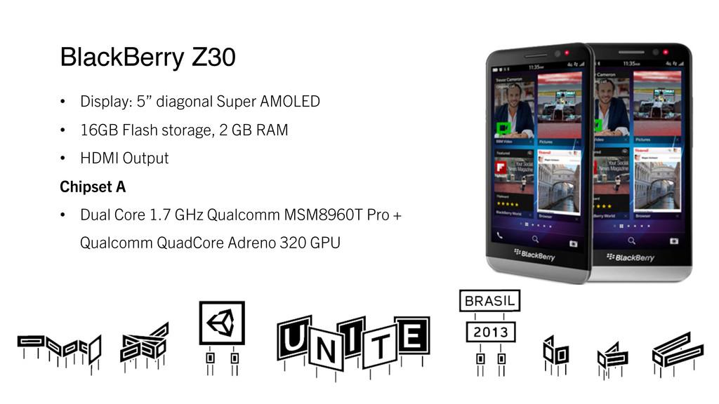 "BlackBerry Z30 ! • Display: 5"" diagonal Super..."