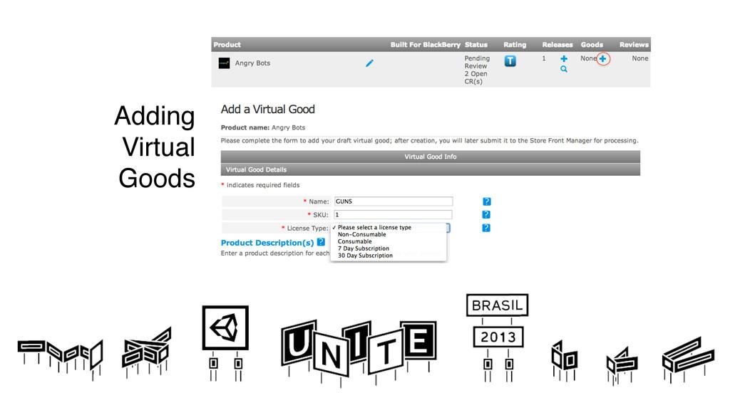 Adding  Virtual Goods