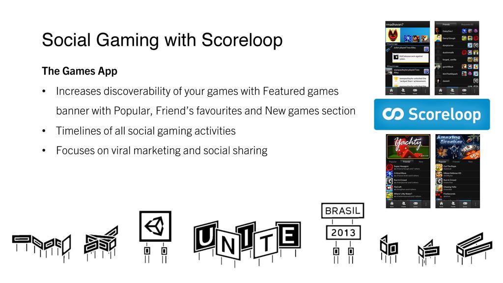 Social Gaming with Scoreloop ! The Games App ...