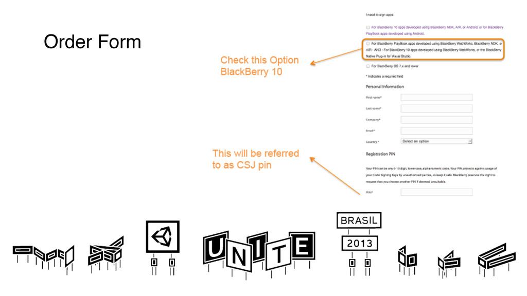 Order Form !