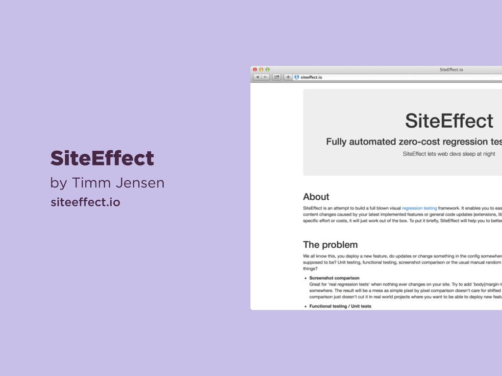 SiteEffect by Timm Jensen siteeffect.io