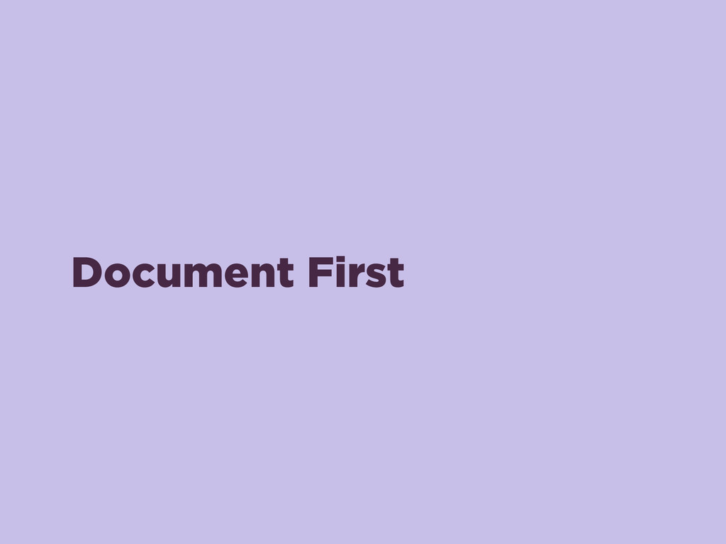 Document First