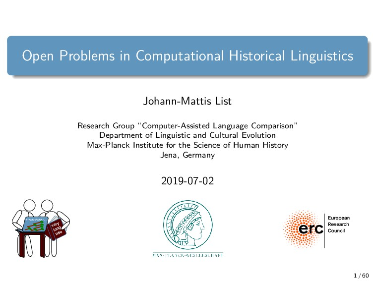 Open Problems in Computational Historical Lingu...