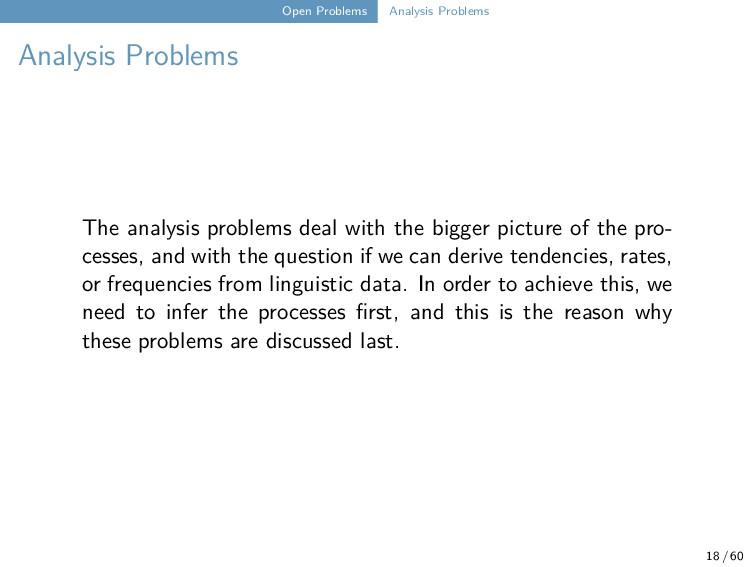 Open Problems Analysis Problems Analysis Proble...