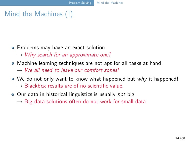 Problem Solving Mind the Machines Mind the Mach...