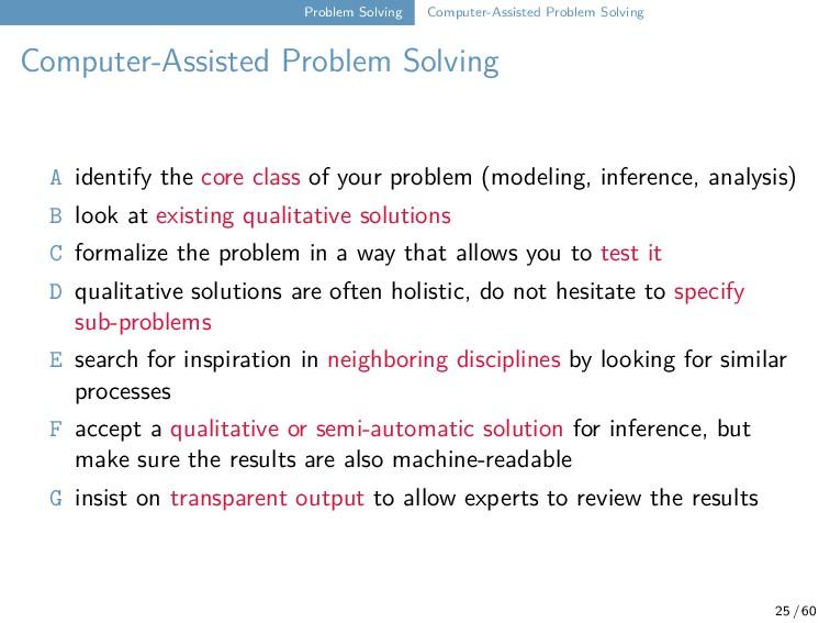 Problem Solving Computer-Assisted Problem Solvi...
