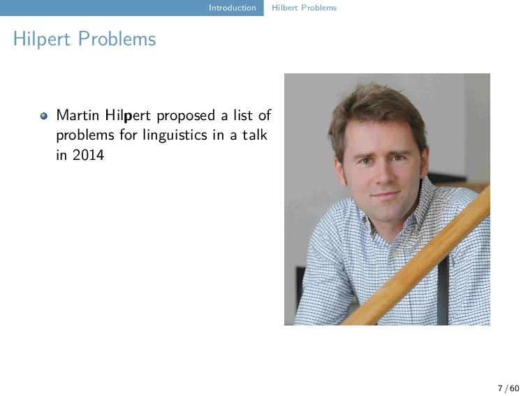 Introduction Hilbert Problems Hilpert Problems ...
