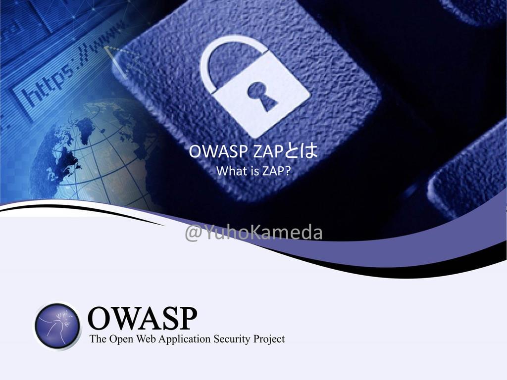 OWASP ZAPとは What is ZAP? @YuhoKameda