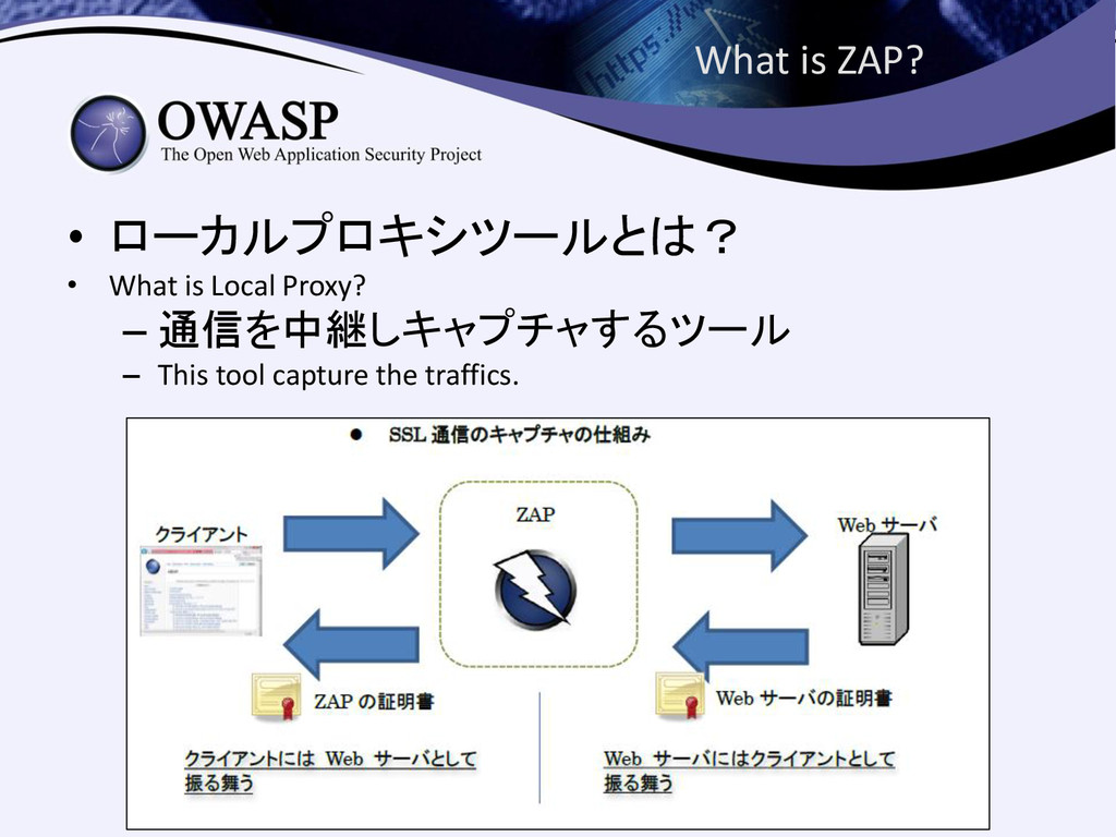 What is ZAP? • ローカルプロキシツールとは? • What is Local P...
