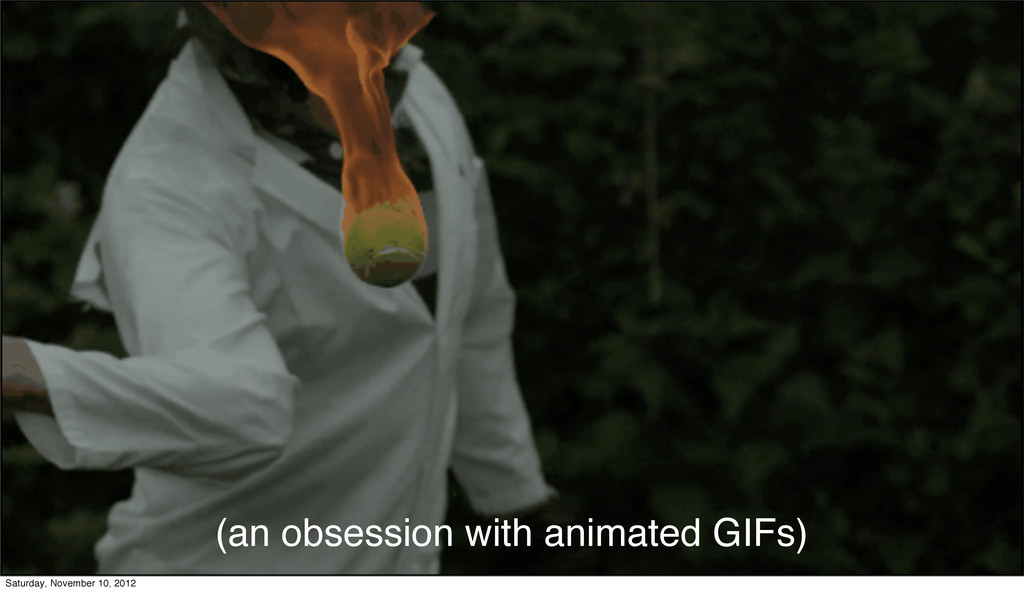 (an obsession with animated GIFs) Saturday, Nov...