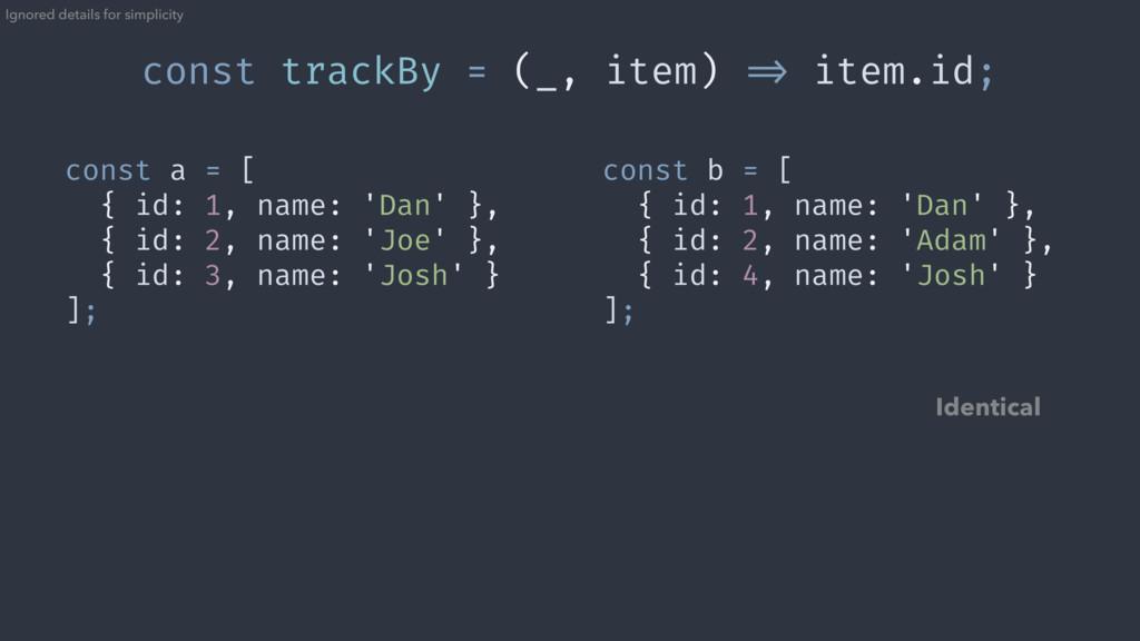 const a = [ { id: 1, name: 'Dan' }, { id: 2, na...