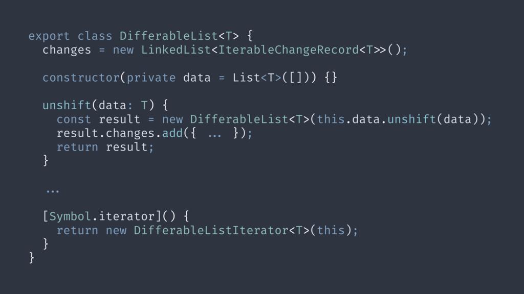 export class DifferableList<T> { changes = new ...
