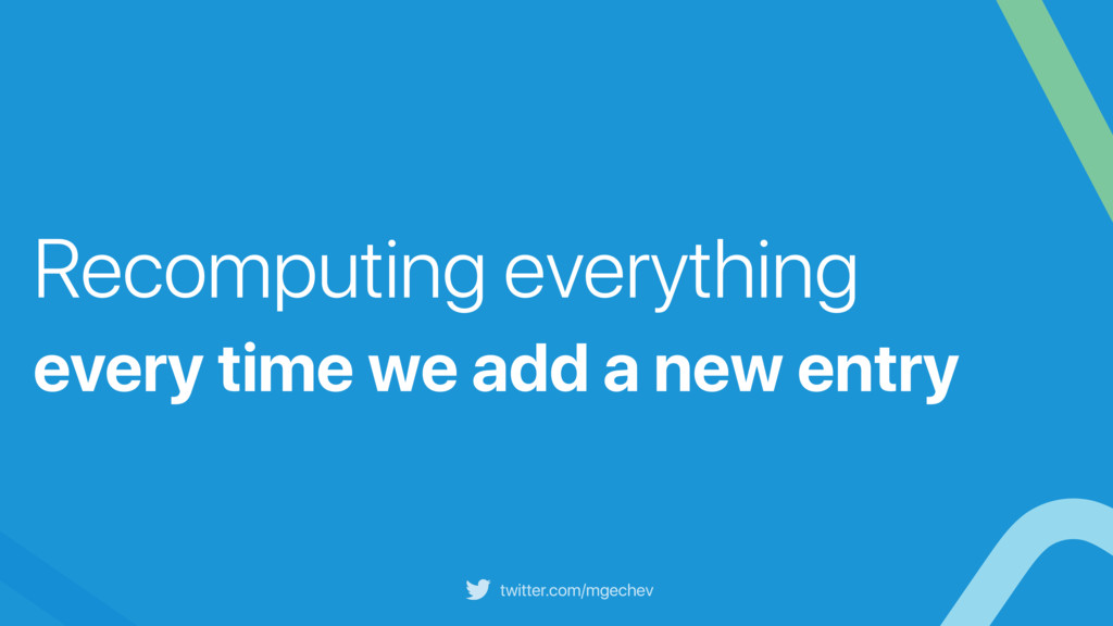 twitter.com/mgechev Recomputing everything ever...