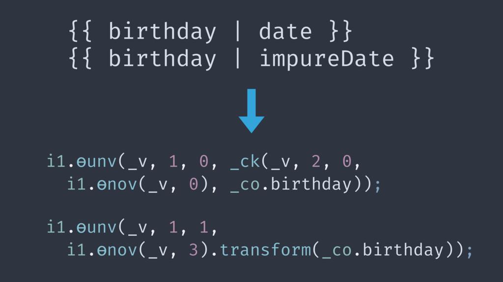 {{ birthday   date }} {{ birthday   impureDate ...