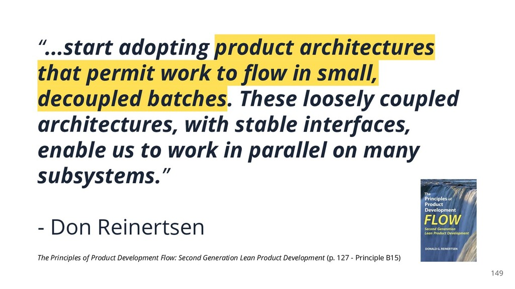 """""""...start adopting product architectures that p..."""