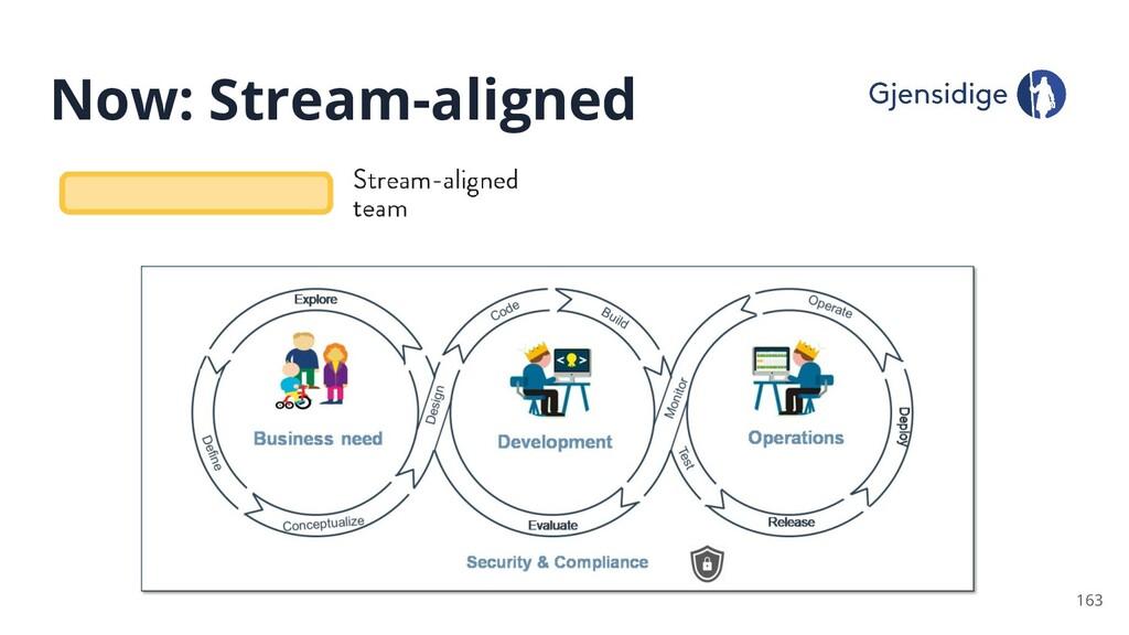 Now: Stream-aligned 163