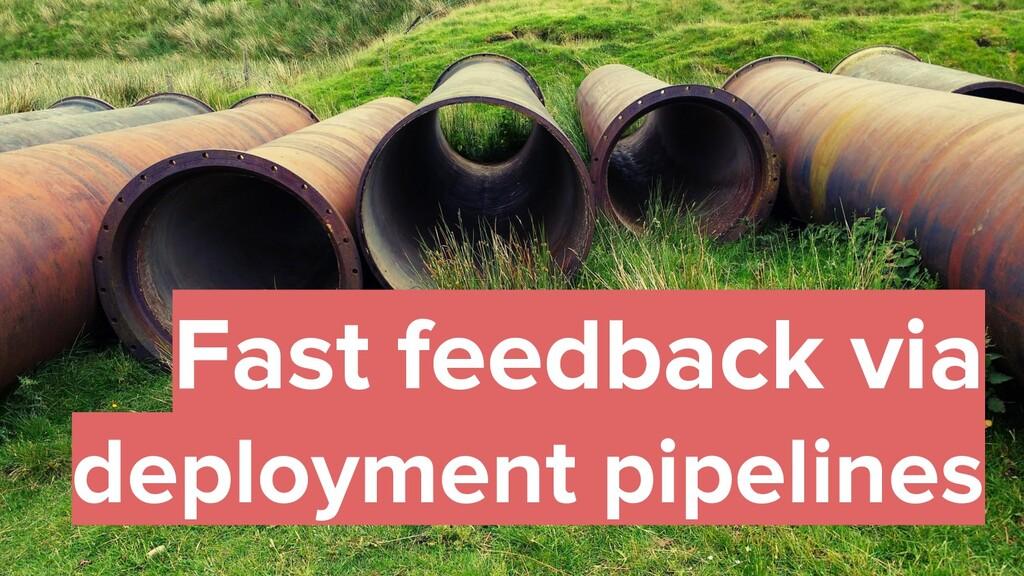 36 Fast feedback via deployment pipelines