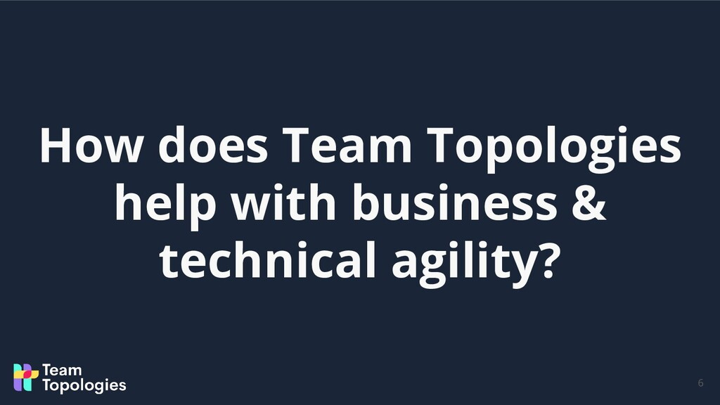 How does Team Topologies help with business & t...