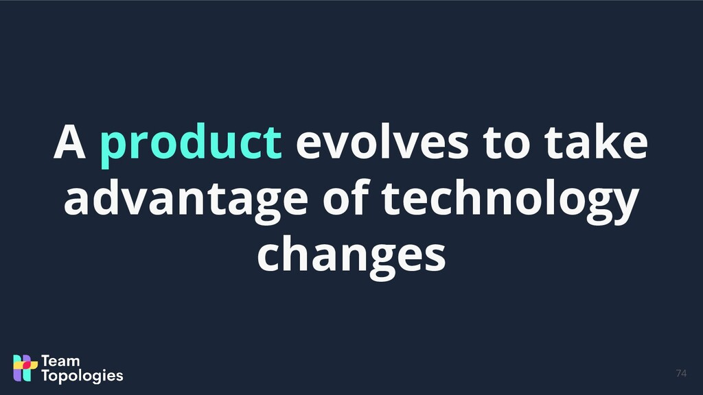 74 A product evolves to take advantage of techn...