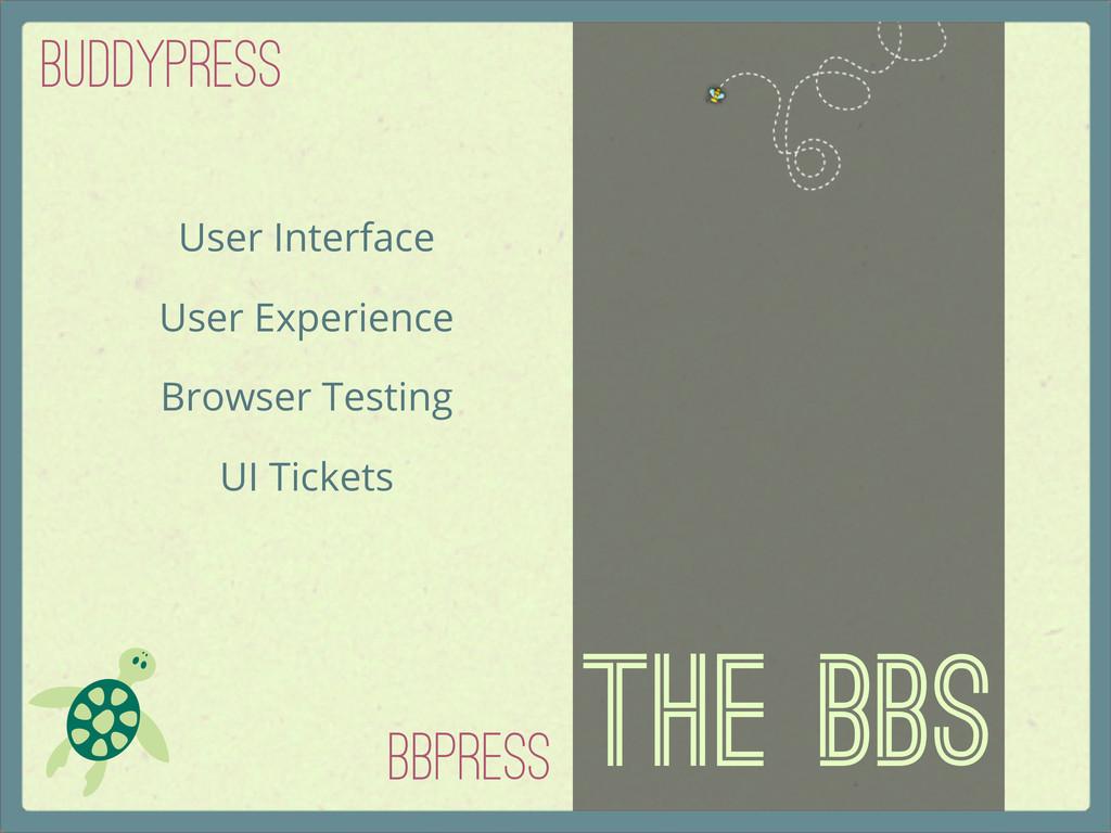 The BBs bbPress BuddyPRess User Interface User ...