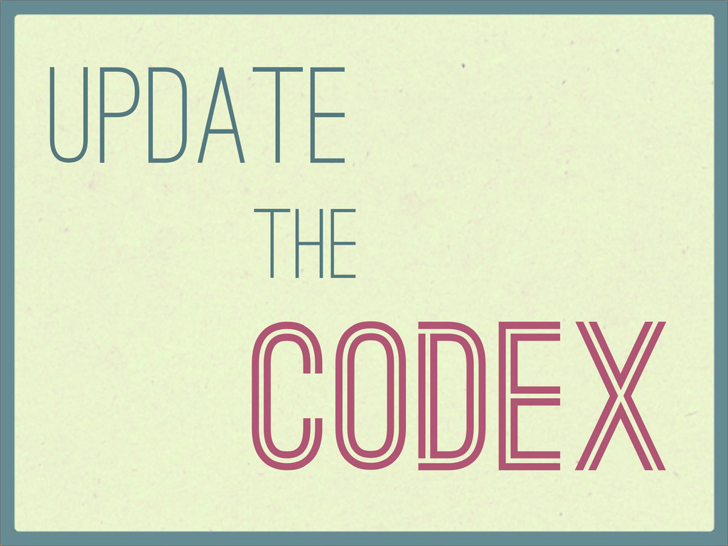 Codex Update the