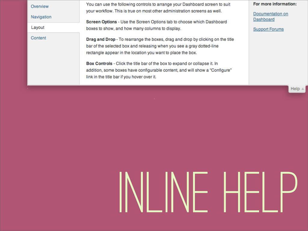 Inline Help