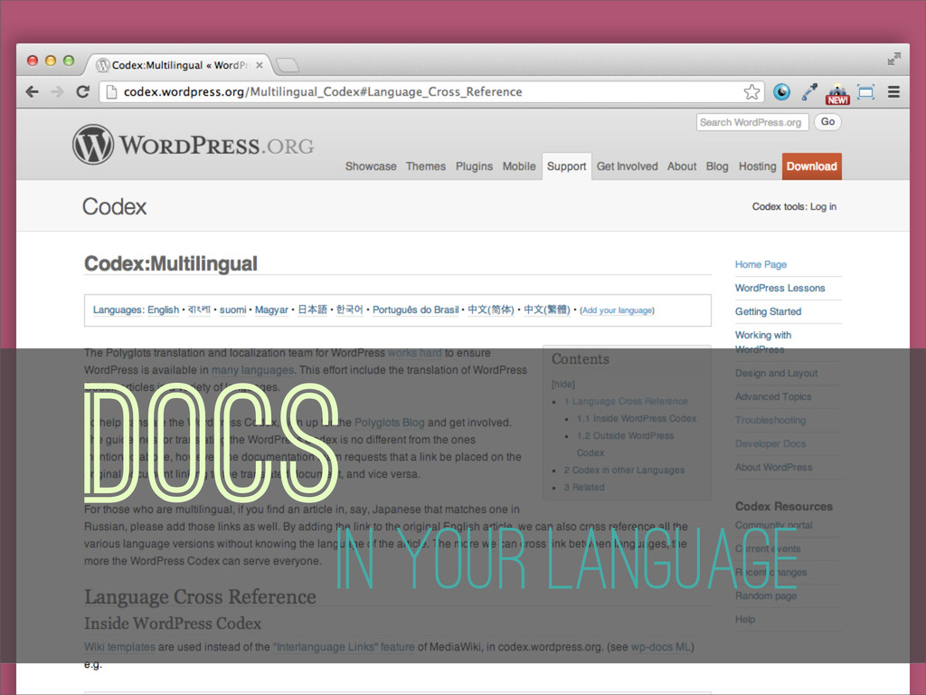 Docs In Your Language