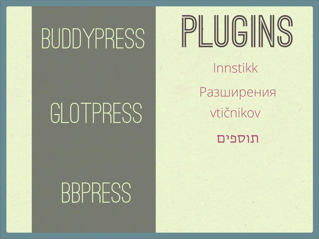 Plugins BuddyPress GlotPress bbPress Innstikk Р...