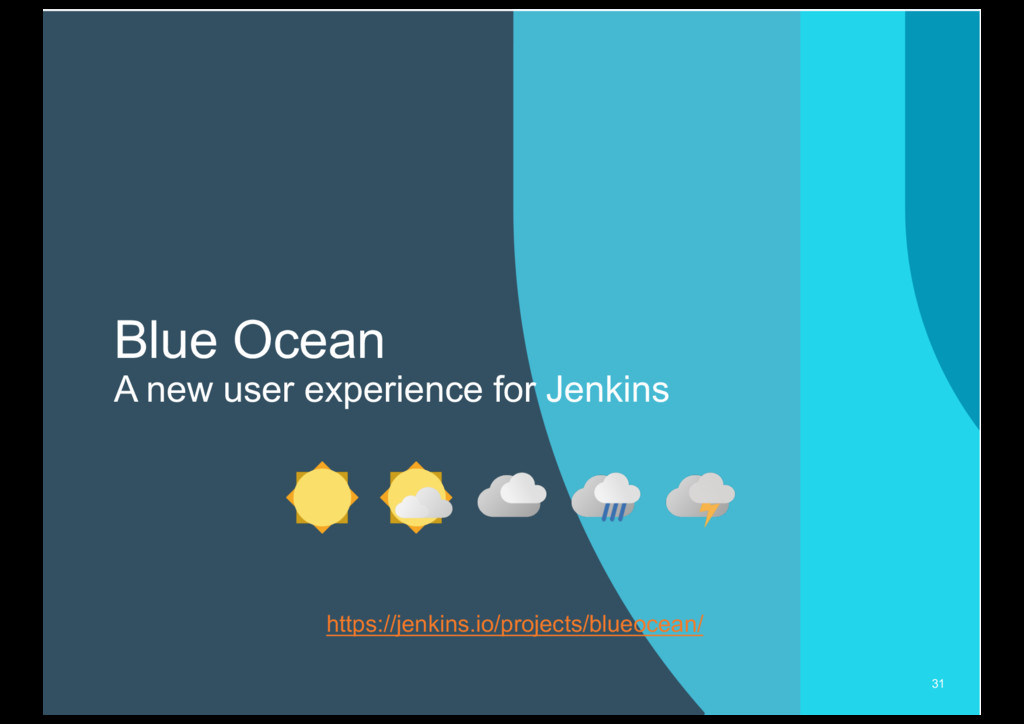 Blue Ocean A new user experience for Jenkins 31...