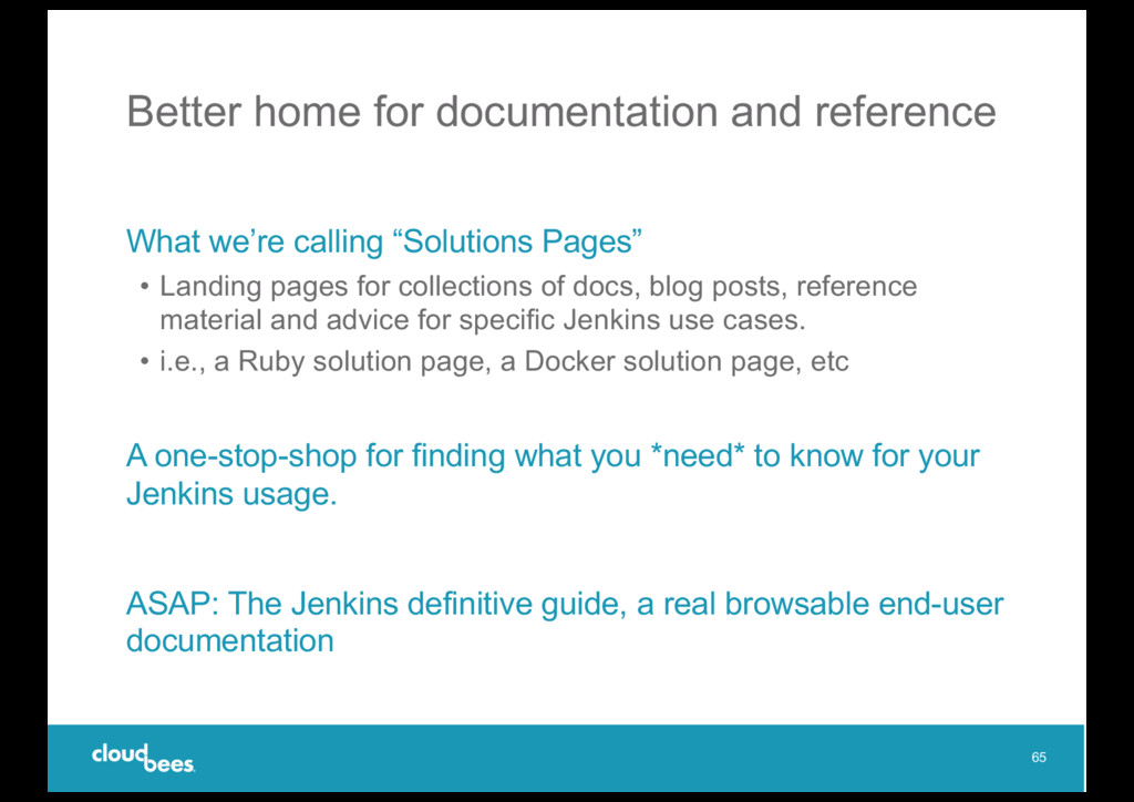 Better home for documentation and reference Wha...