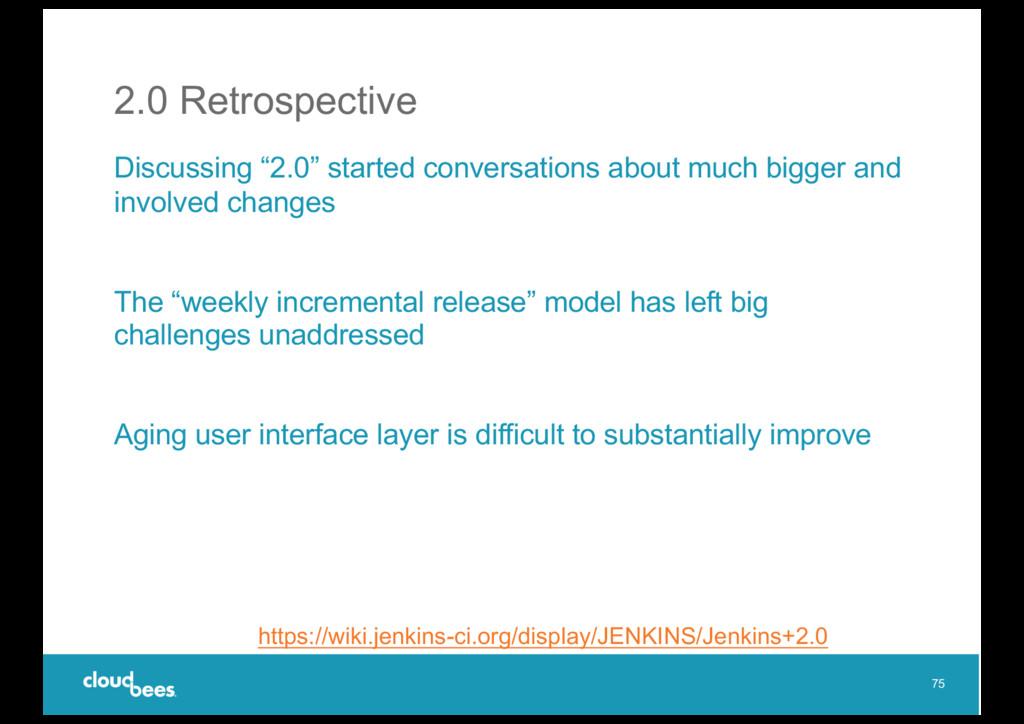 "2.0 Retrospective Discussing ""2.0"" started conv..."
