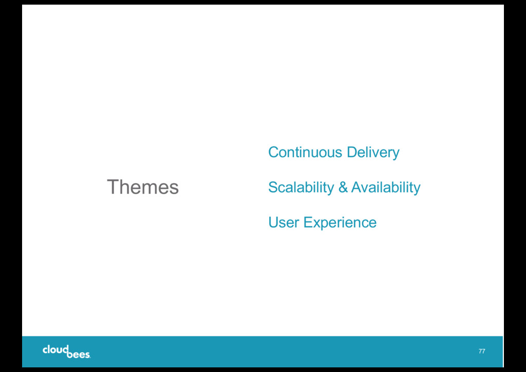 Themes Continuous Delivery Scalability & Availa...
