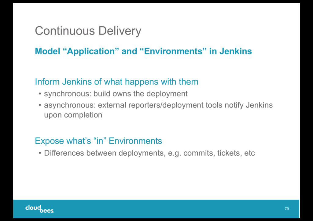 """Continuous Delivery Model """"Application"""" and """"En..."""