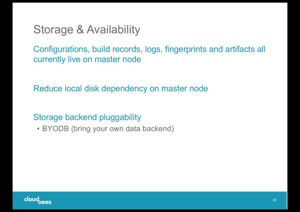 Storage & Availability Configurations, build re...