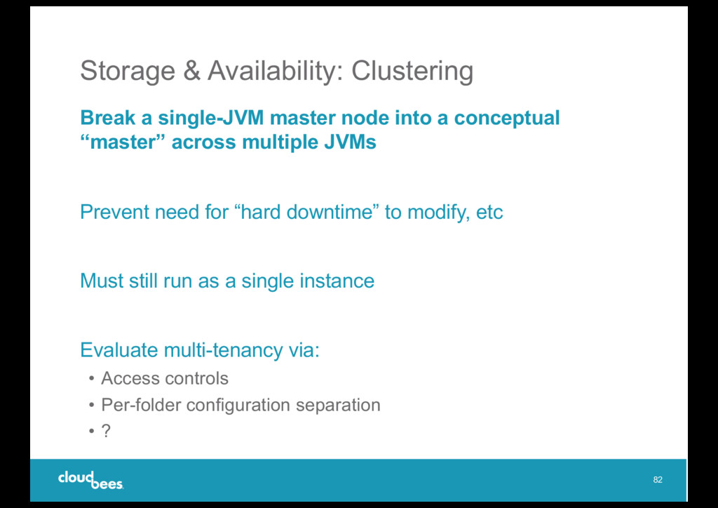 Storage & Availability: Clustering Break a sing...