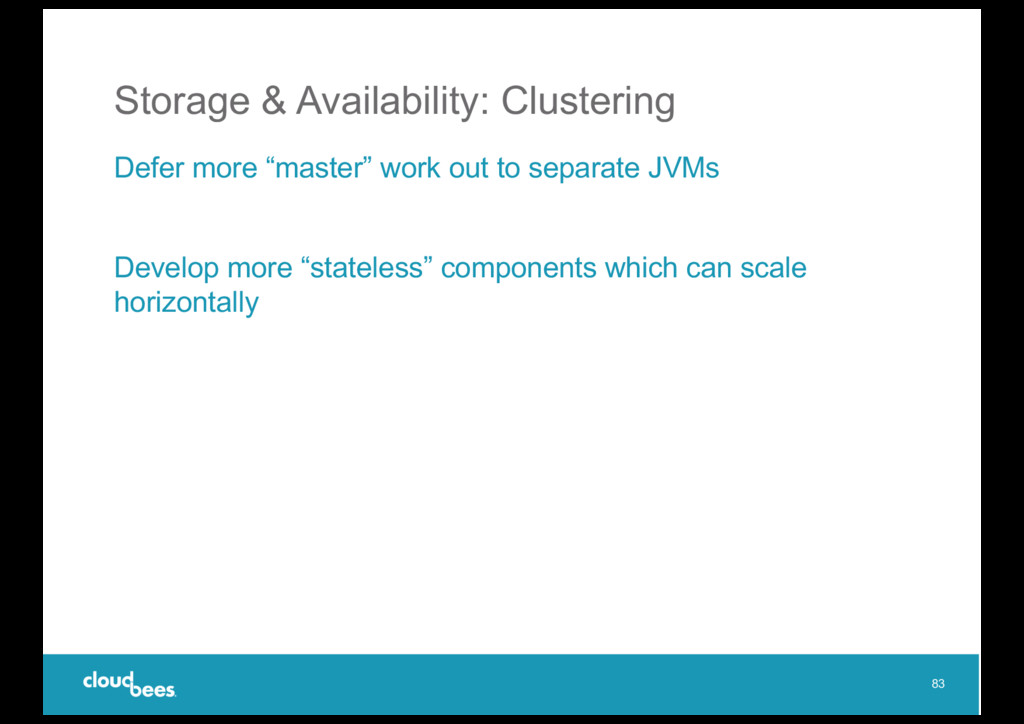 """Storage & Availability: Clustering Defer more """"..."""