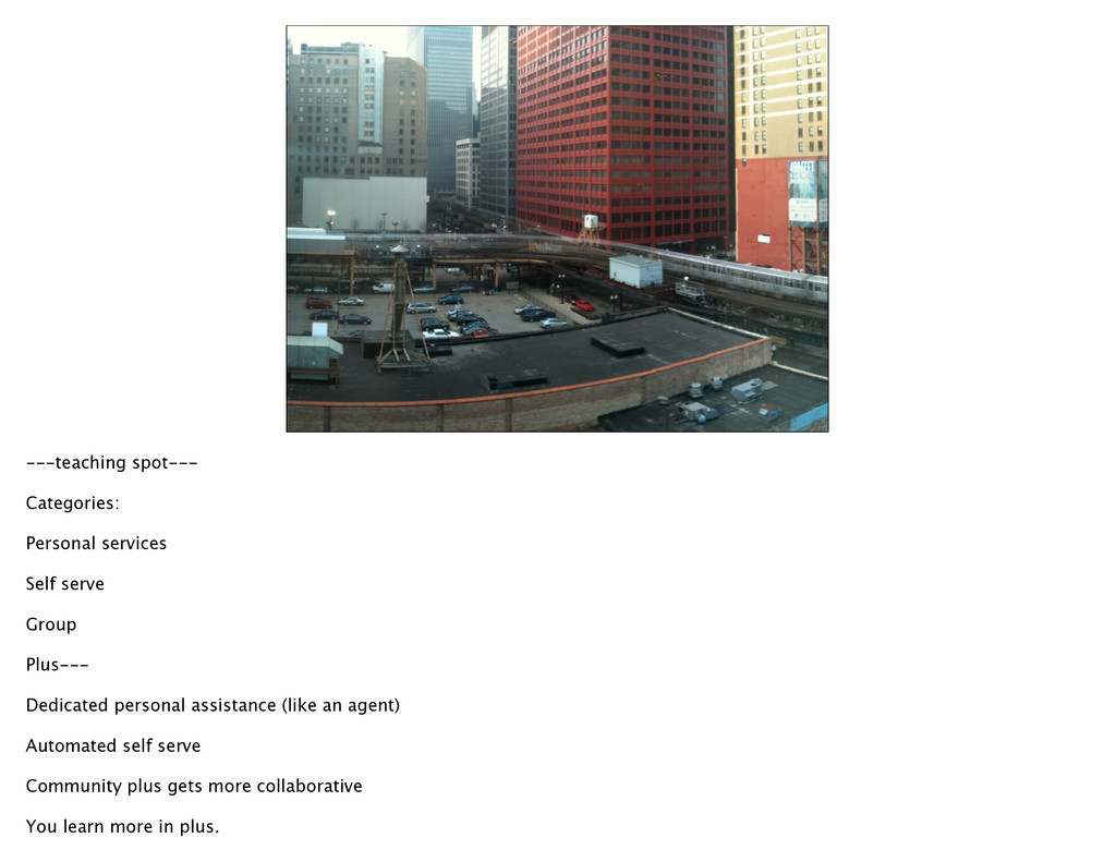---teaching spot--- Categories: Personal servic...