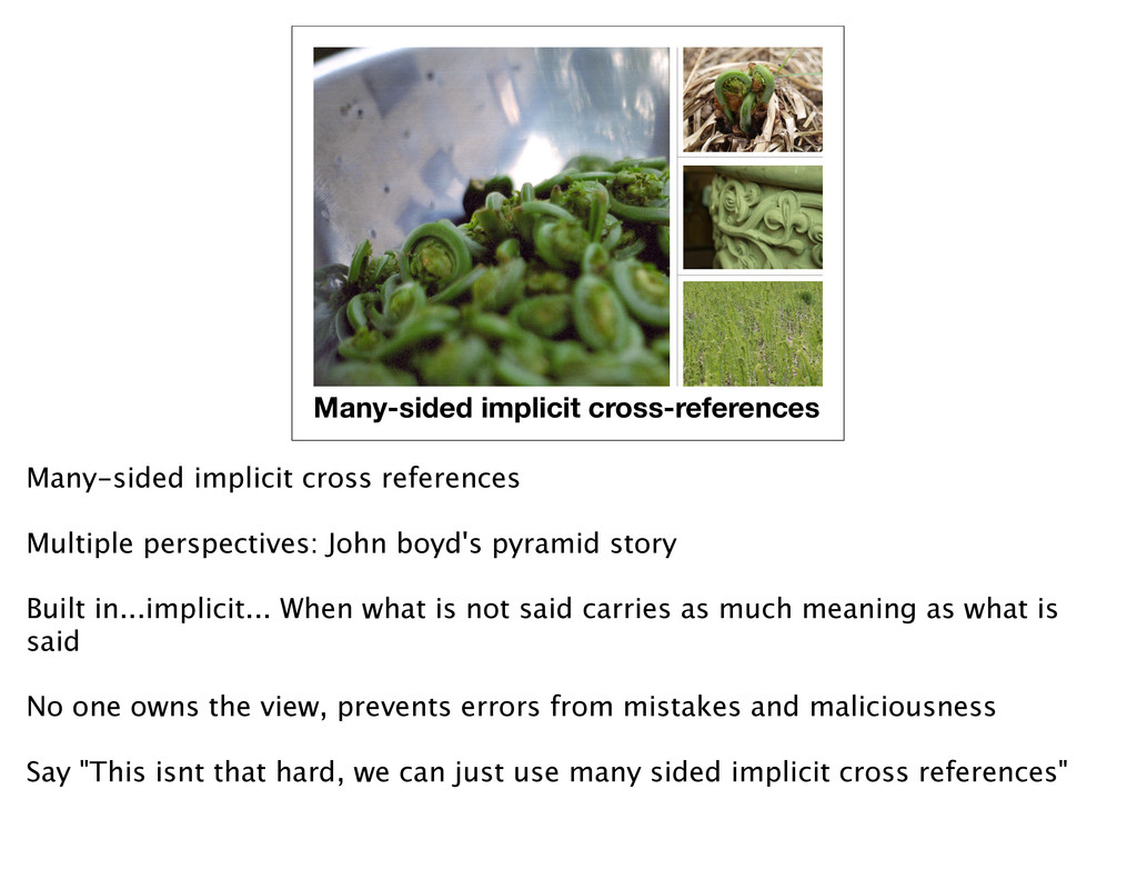 Many-sided implicit cross-references Many-sided...