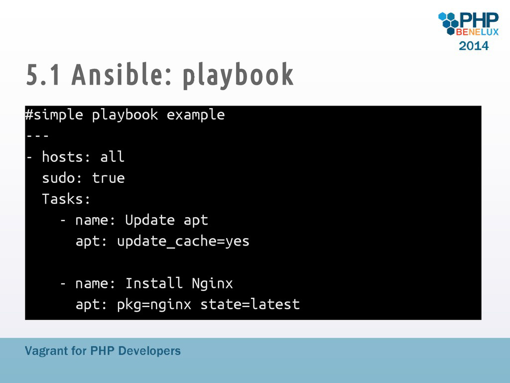 5.1 Ansible: playbook #simple playbook example ...