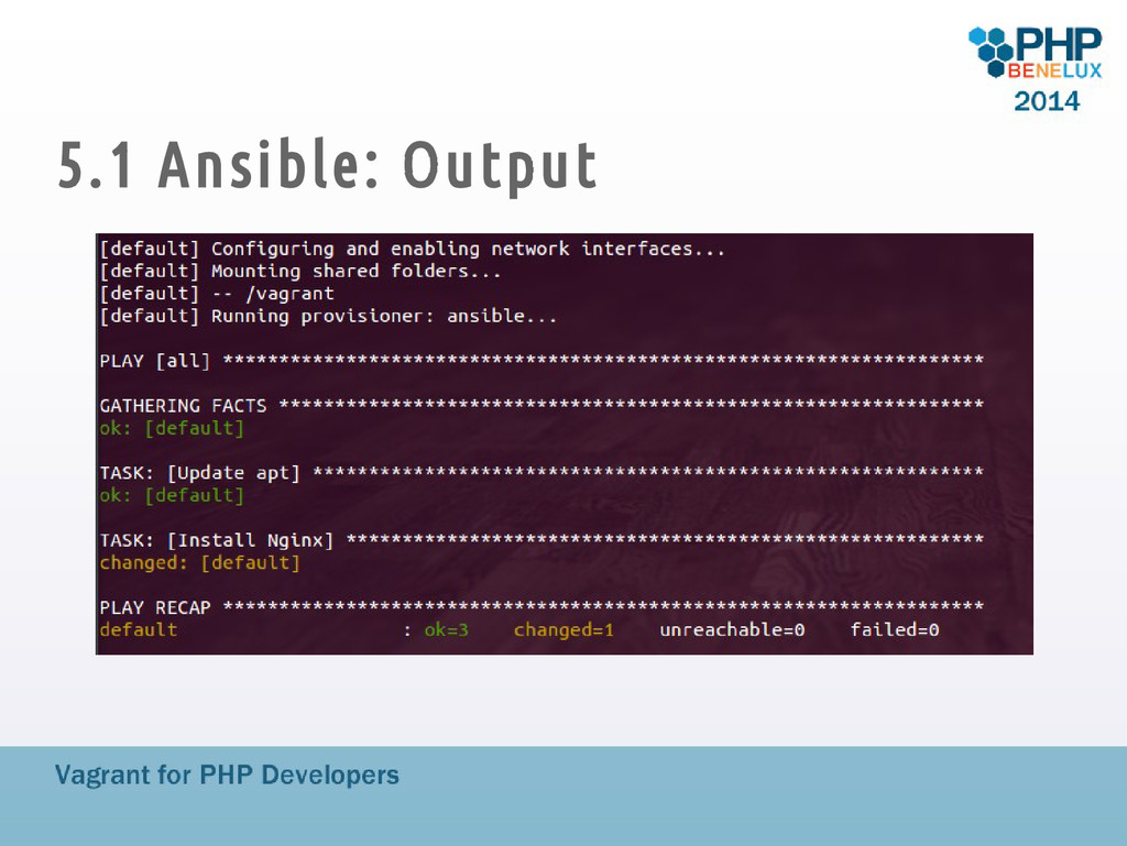 5.1 Ansible: Output