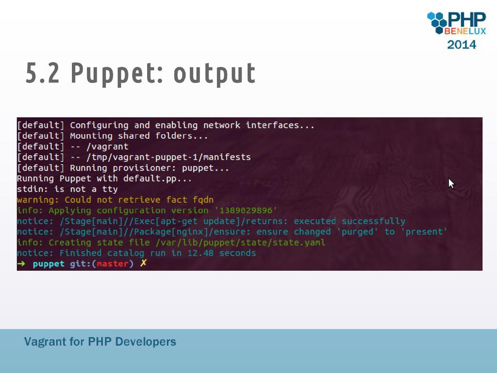 5.2 Puppet: output