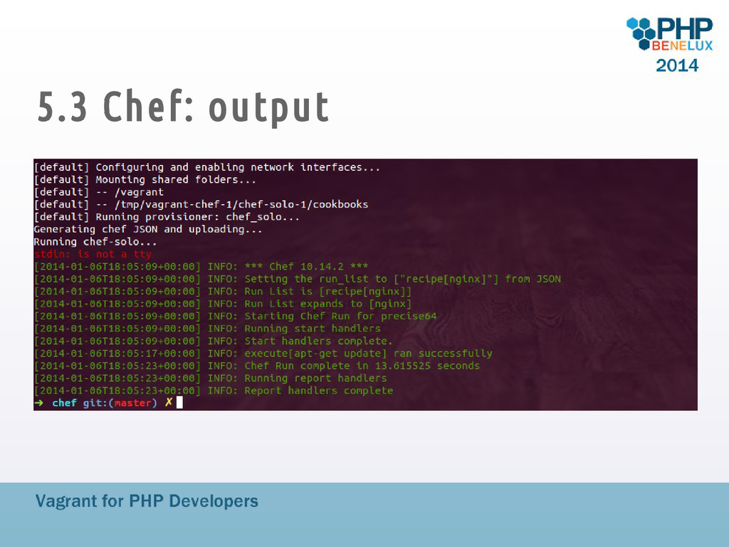5.3 Chef: output