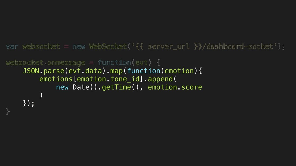 var websocket = new WebSocket('{{ server_url }}...