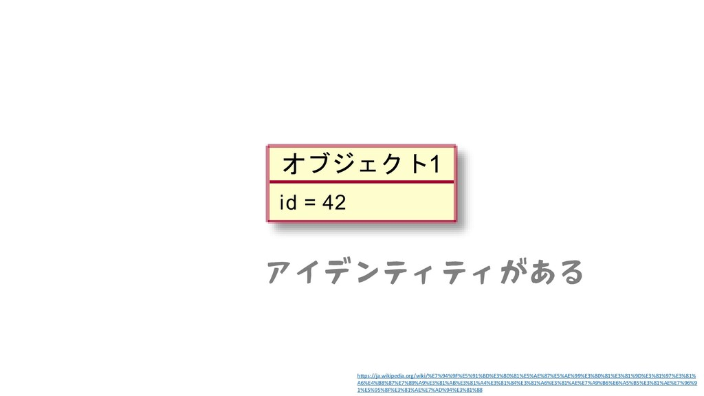 アイデンティティがある https://ja.wikipedia.org/wiki/%E7%9...