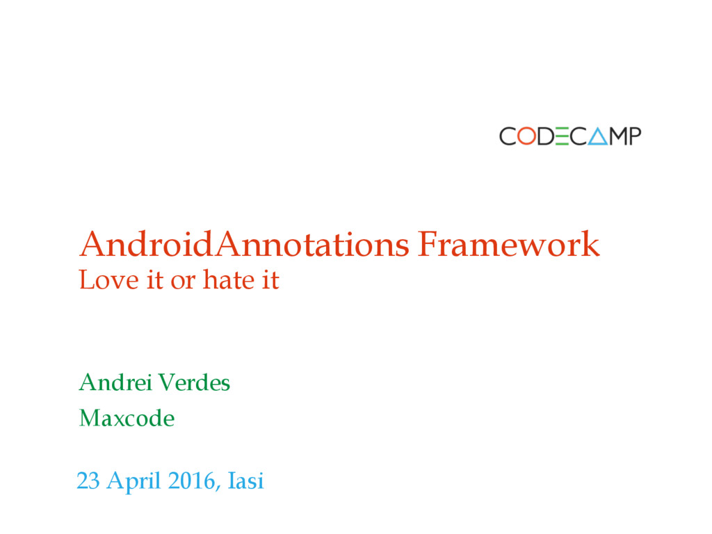 AndroidAnnotations Framework Love it or hate it...