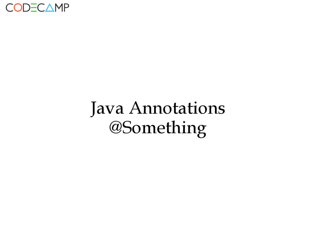 Java Annotations @Something