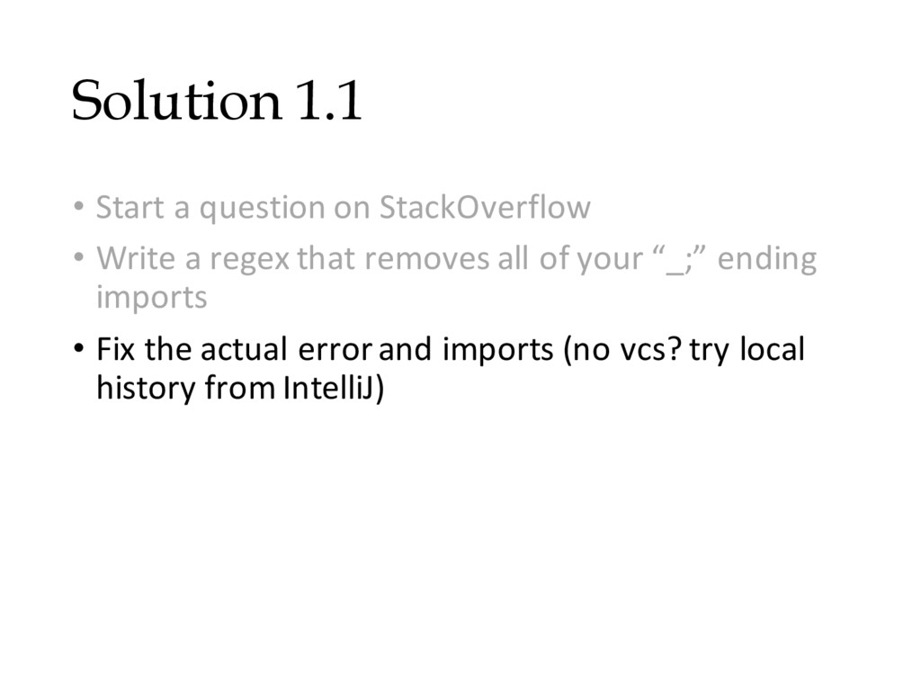 Solution 1.1 • Start a question on StackOverflo...