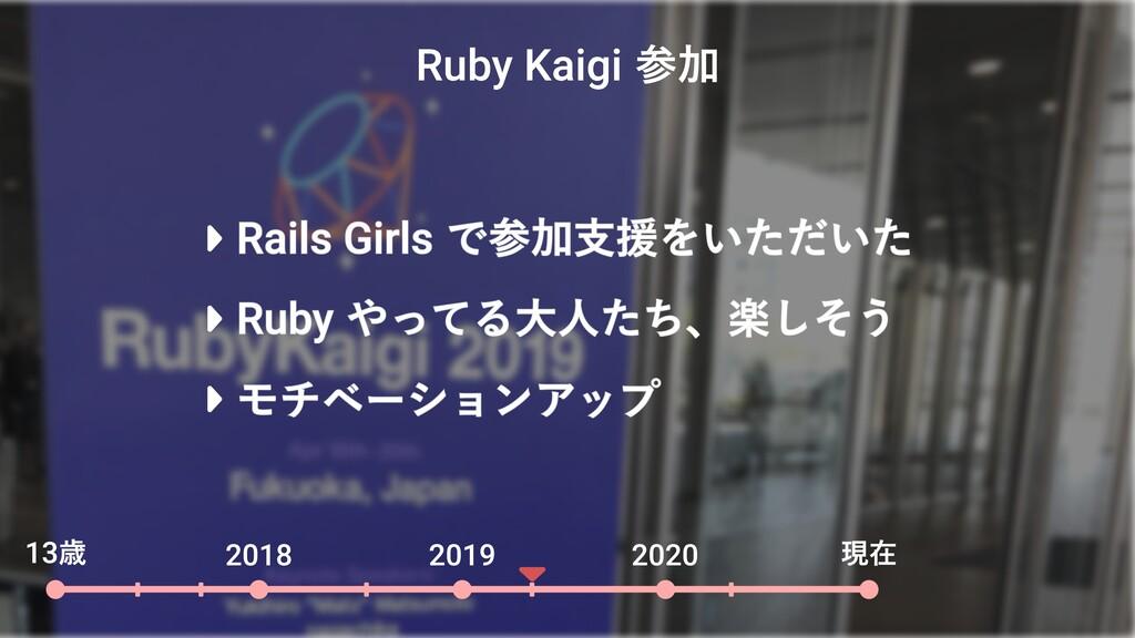 Ruby Kaigi 参加 13歳 2018 2019 2020 現在 Rails Girls...