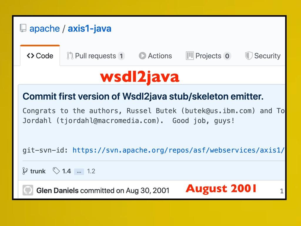 wsdl2java August 2001